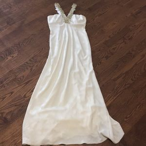 Gorgeous Cream and Gold Gown - New with Tags